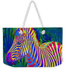 Pyschedelic Zebra Weekender Tote Bag