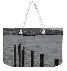 Weekender Tote Bag featuring the photograph Q. River by John Scates