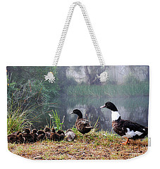 Quack Quack Ducks And A Pond Weekender Tote Bag