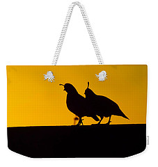 Quail At Sunset Weekender Tote Bag