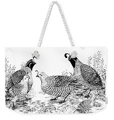 Quail Family Reunion Weekender Tote Bag