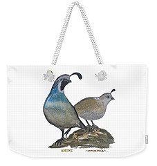 Quail Parents Wondering Weekender Tote Bag