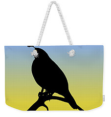 Quail Silhouette At Sunrise Weekender Tote Bag