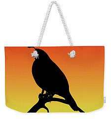 Quail Silhouette At Sunset Weekender Tote Bag