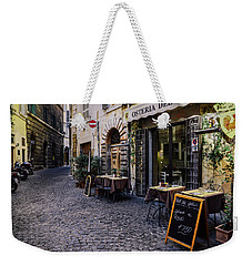 Quaint Cobblestones Streets In Rome, Italy Weekender Tote Bag