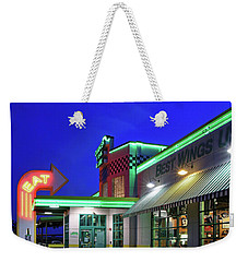 Weekender Tote Bag featuring the photograph Quaker Steak And Lube by Christopher McKenzie