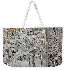 Quakies In Early Winter Weekender Tote Bag