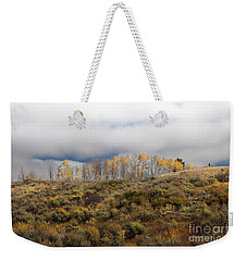 Quaking Aspen Tree Landscape, Grand Teton National Park, Wyoming Weekender Tote Bag