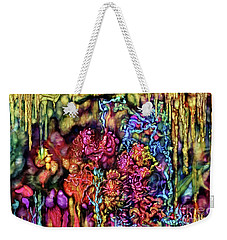 Weekender Tote Bag featuring the digital art Qualia's Cave by Russell Kightley