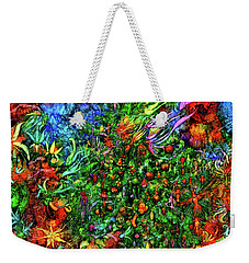 Weekender Tote Bag featuring the digital art Qualia's Christmas by Russell Kightley