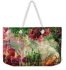 Weekender Tote Bag featuring the digital art Qualia's Jungle by Russell Kightley