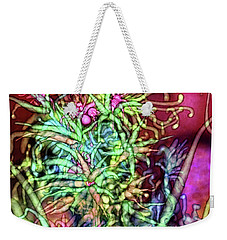 Weekender Tote Bag featuring the digital art Qualia's Tree by Russell Kightley