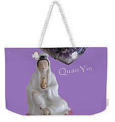 Quan Yin With Amethyst Heart Weekender Tote Bag