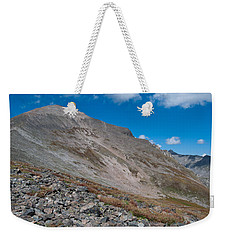 Weekender Tote Bag featuring the photograph Quandary Peak by Cascade Colors