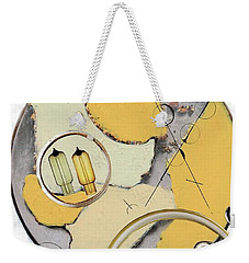 Weekender Tote Bag featuring the painting Quantom Physics by Michal Mitak Mahgerefteh