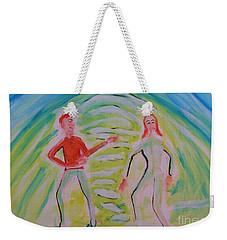Quantum Entanglement Weekender Tote Bag
