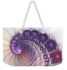 Weekender Tote Bag featuring the digital art Quantum Gravity by Anastasiya Malakhova