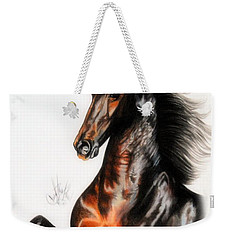 Quantum Of Solace Saddlebred Stallion Weekender Tote Bag by Cheryl Poland