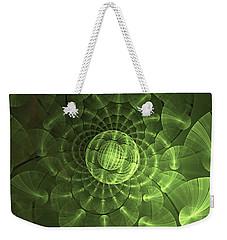 Weekender Tote Bag featuring the digital art Quantum Plasma Signature by Lea Wiggins