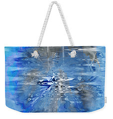 Weekender Tote Bag featuring the photograph Quantum Reflections by Kellice Swaggerty