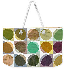 Quarter Circles Layer Project One Weekender Tote Bag by Michelle Calkins