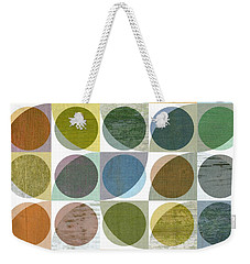 Quarter Circles Layer Project Three Weekender Tote Bag by Michelle Calkins