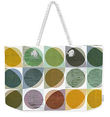 Quarter Circles Layer Project Two Weekender Tote Bag by Michelle Calkins