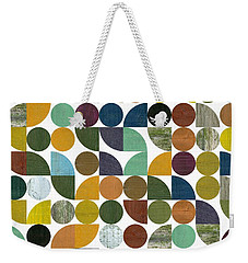 Weekender Tote Bag featuring the digital art Quarter Rounds And Rounds 100 by Michelle Calkins