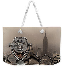 Weekender Tote Bag featuring the photograph Quarters Only by Chris Lord