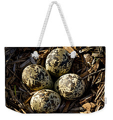 Quartet Of Killdeer Eggs By Jean Noren Weekender Tote Bag by Jean Noren