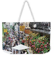 Weekender Tote Bag featuring the photograph Quartier Petit Champlain by John Schneider