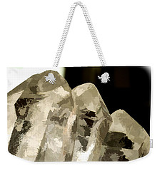 Quartz Crystal Cluster Weekender Tote Bag