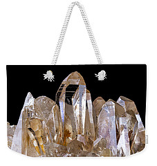 Weekender Tote Bag featuring the photograph Quartz Crystals by Jim Hughes