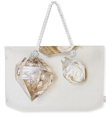 Weekender Tote Bag featuring the photograph Quartz Crystals by Jorgo Photography - Wall Art Gallery