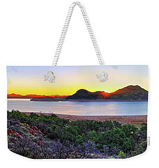 Quartz Mountains And Lake Altus Panorama - Oklahoma Weekender Tote Bag