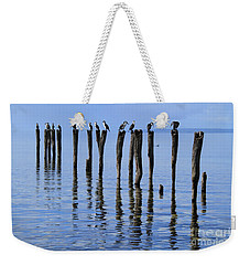 Weekender Tote Bag featuring the photograph Quay Rest by Stephen Mitchell