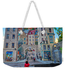 Quebec City Mural Weekender Tote Bag
