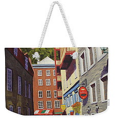 Quebec City Side Street Weekender Tote Bag by Alan Mager