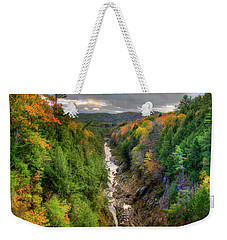 Weekender Tote Bag featuring the photograph Quechee Gorge - Quechee Vermont by Joann Vitali
