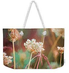 Weekender Tote Bag featuring the digital art Queen Anne Impasto by Bonnie Bruno