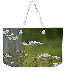 Queen Anne Lace Wildflowers Weekender Tote Bag