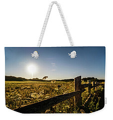 Queen Annes Lace Along Cavendish Fencerow Weekender Tote Bag