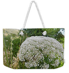 Weekender Tote Bag featuring the photograph Queen Anne's Lace by Esther Newman-Cohen