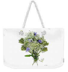 Queen Anne's Lace With Purple Flowers Weekender Tote Bag