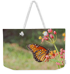 Queen Butterfly On Milkweed Weekender Tote Bag