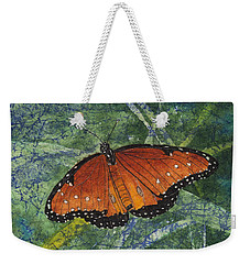 Queen Butterfly Watercolor Batik Weekender Tote Bag