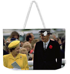 Queen Elizabeth Inspects The Horses Weekender Tote Bag