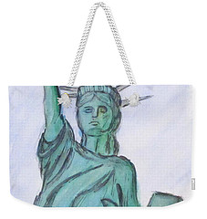 Queen Of Liberty Weekender Tote Bag by Clyde J Kell