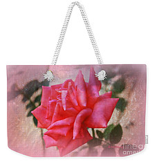 Weekender Tote Bag featuring the photograph The  Rose That Last Forever by Sherri Of Palm Springs