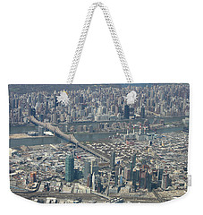 Queens And Manhattan Weekender Tote Bag by Suhas Tavkar